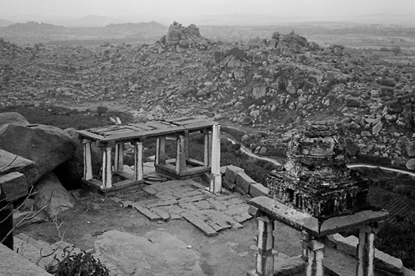 ruined temples on Matunga Hill, Hampi