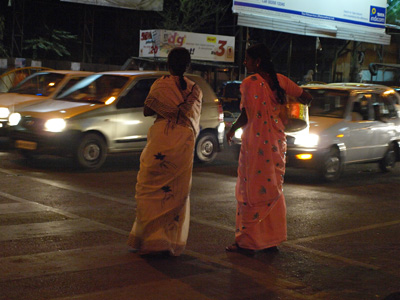 Pune night street scene